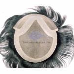 LD4: Haarersatz Haarsystem aus fein verschweißtem Mono mit Hautgeflecht und Mono Spitze an der Stirnseite