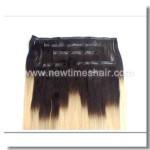 Zweifarbige Echthaar Haarverlängerung zum Anstecken