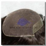LD15: Haarersatz Haarteil mit französischer Spitze mit PU am Hinterkopf und den Seiten