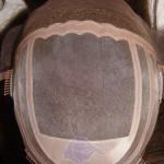 HS19: Toupet mit feinem Mono, PU Rand und fein verschweißter Mono Spitze an der Stirnseite