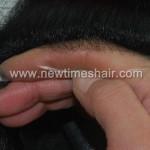 INS Toupet Lagerstück mit in die dünne Haut eingestochenem Haar