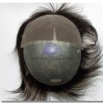 LD13: Haarersatz Haarteil mit Kappe aus dünner Haut und französischer Spitze an der Stirnseite