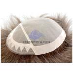 LD19: Männertoupet mit Kappe aus feinem Mono mit PU Rand und doppelt gelegter Spitze an der Stirnseite