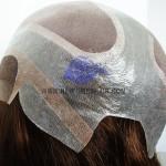 NTW& Kappe aus feinem Mono mit französischer Spitze und dünnem Hautrand mit Scheitel