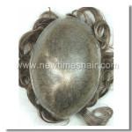 HS25-V Lagerstück Toupet mit super dünner Haut und V-Schlaufe gestochenem Haar