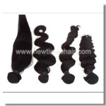 Echthaar Haarverlängerung aus indischem Remy Haar auf Lager